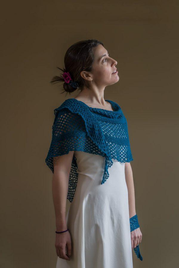 Elena Shawl Knitting Pattern By Devanalana